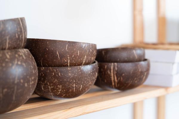 Kokosnuss Schalen